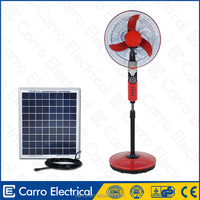 16inch or 18inch standing battery fan AC DC double use solar rechargeable battery operated fan with CE and Soncap certificate