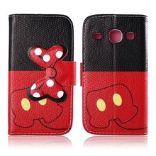 For Samsung Galaxy Core I8262 Case, PU Leather Wallet Case Cute Bow-knot Flip Cover for Samsung Galaxy Core I8262 Case
