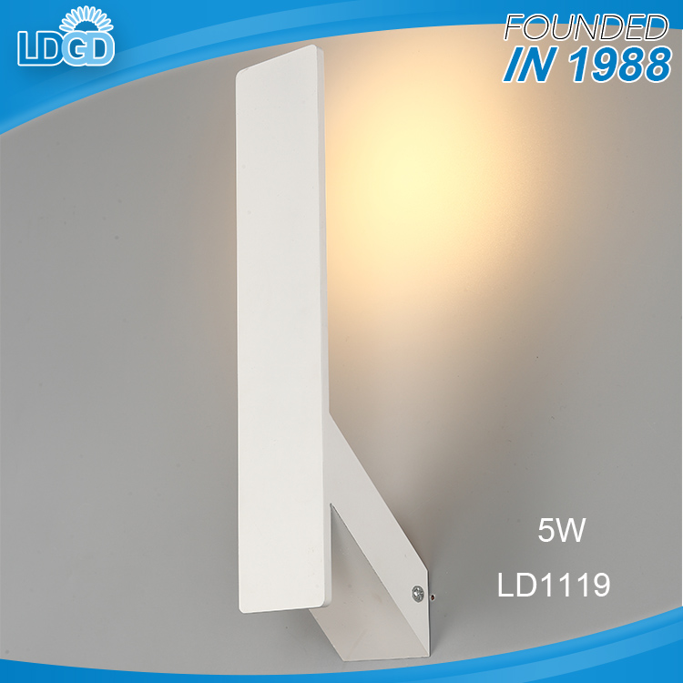 Hot salse aluminum acrylic 5w hotel room wall light / indoor wall lamp fixtures for home