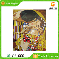 Hot sale manufacturer supply kiss picture for love gift decorative diy diamond painting