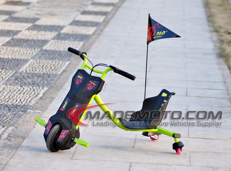 children Dfift trike 100W Kids drift trike three wheel 360 Electric Smart Drifting trike Scooter