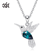 Crystals from Swarovski Bird Pendant Fashion Necklace Jewelry