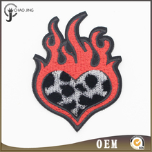 Free sample good quality custom embroidered woven patches for jackets