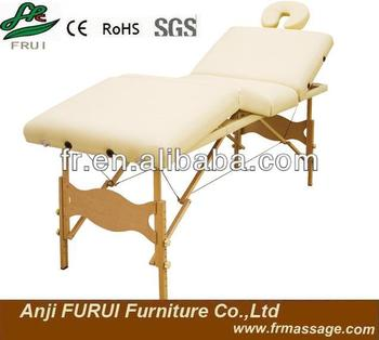 4-section portable wooden massage table wooden beech bed