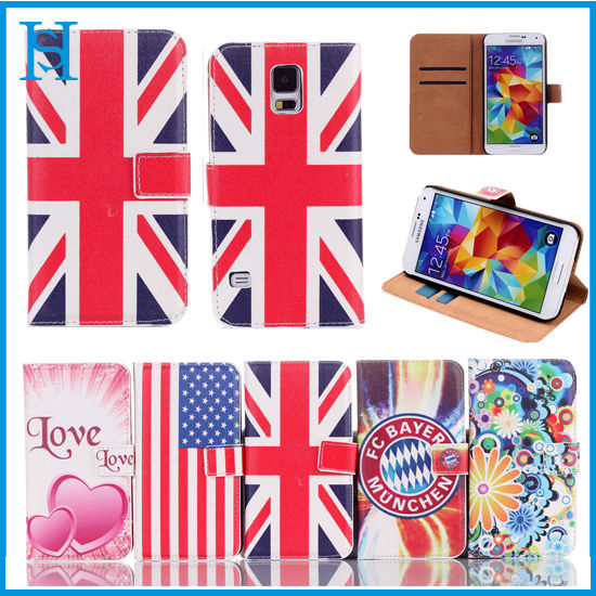 Factory price for iphone 5 5s color print leather case,welcome your image