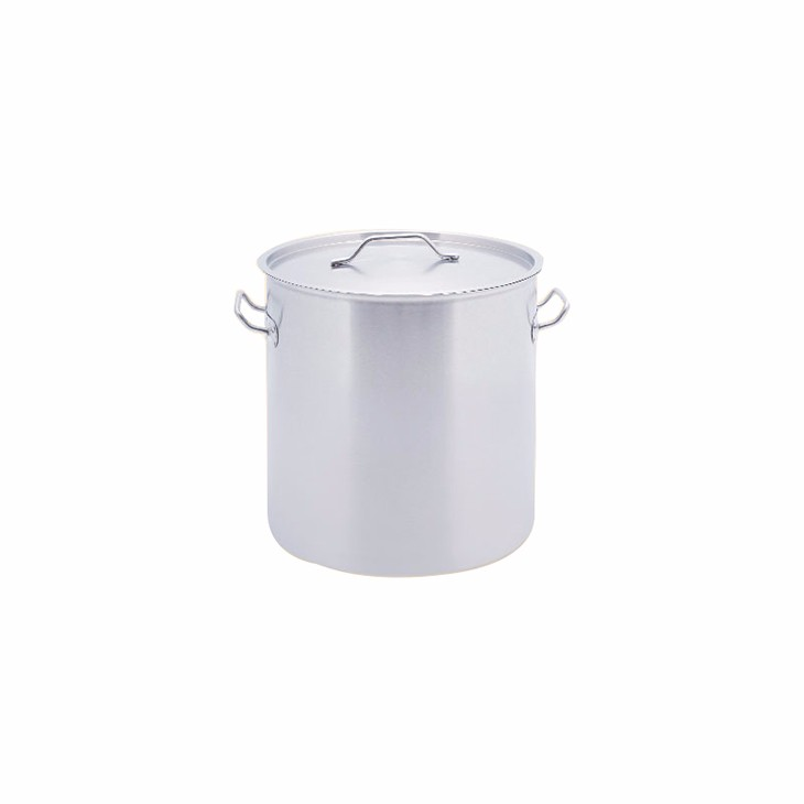 MUK hot sale hotel restaurant kitchen storage set stainless steel tall body pot with compound bottom