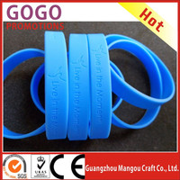 High quality manufacturer silicone bracelet China rubber bracelets personalized silicone bracelet with custom logo