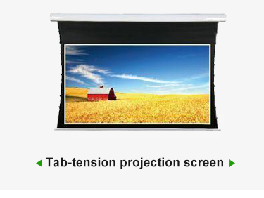 "84""-150"" PVC Motorized wall mount Tab-tension Electric Movie Screen for Home Cinema"