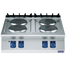 Hotel Cooking Appliance Stainless Steel Electric Range