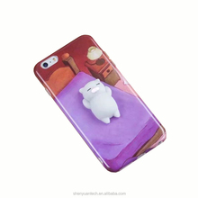 Factory Selling Squishy Phone Case for iPhone Cover Case Cat Squishy Toys Custom 3D Silicone