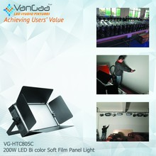 video studio shoot adjustable bi-color temperature led soft panel light with battery operated LED