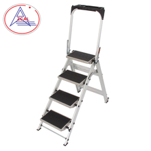 56.5Cm Down Wide 4 Step Folding Handrail Ladder Portable