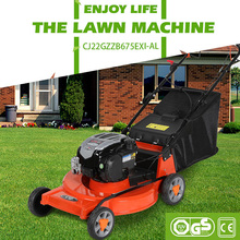 22inch self propelled gasoline lawn mower CJ22GZZB675EXI-AL with aluminum chassis mower and BS engine