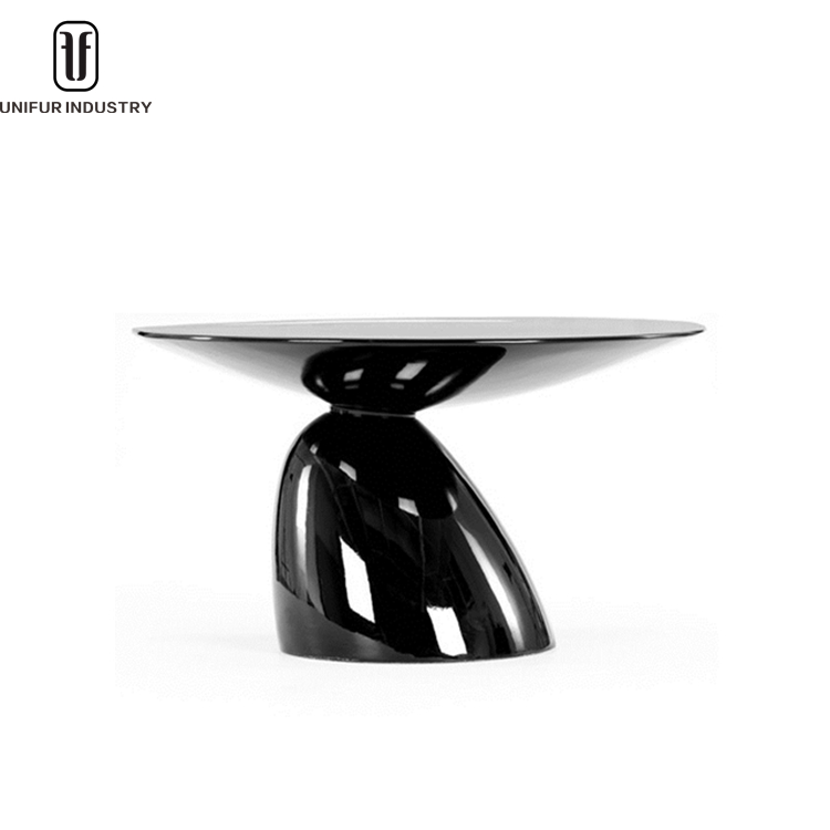 Hot sales!! Cheap parabel shaped modern round fiberglass dining table