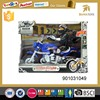 Hot sale plastic pull back toy with man cross harley motorcycle