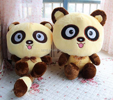 Newest Kawaii stuffed raccoon plush small soft toys cheap animal toys for children small raccoon with big eyes plush toys