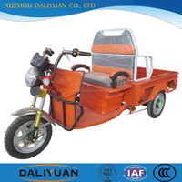 Daliyuan electric 3 wheel can climb stair trolley motorcycle 2 wheels front