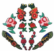 3D flower applique embroidery flower patches for dress decoration