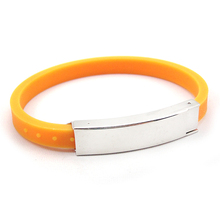 factory direct sales new style silicone custom adjustable wristbands