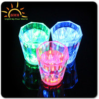 2016 new products wedding decoration party supplies led liquid activated glass Colorful LED Light Up Souvenir Shot Glass