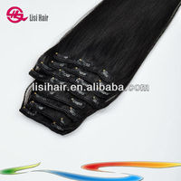 2014 Wholesale Top Quality Clip in Remy Hair Extension Italian Curl