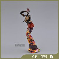 2016 Resin decorative sexy black lady statue for sale