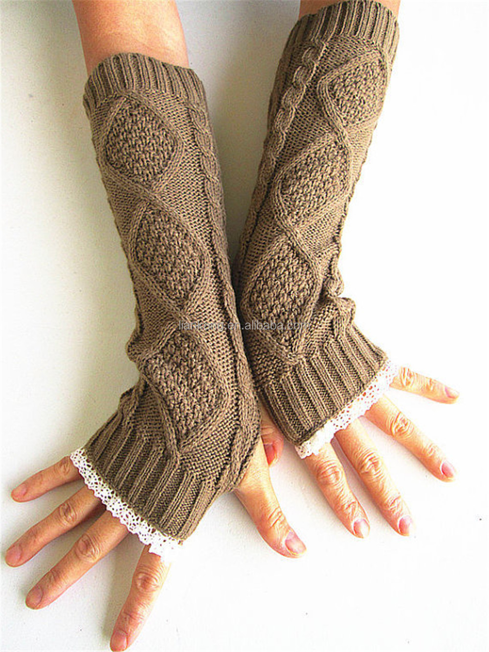 Wholesale Knitting Pattern Women Fingerless Gloves - Buy Women Gloves,Women F...