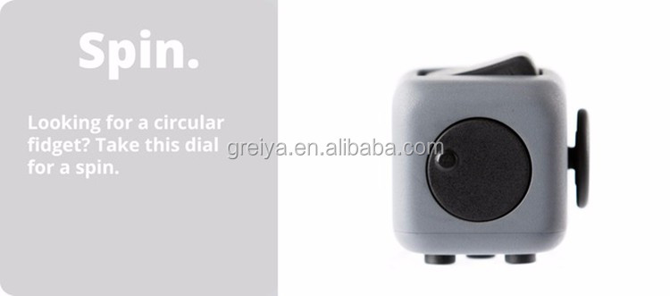 Greia High Quality and cheapest Fidget Cube for Christmas Gift for desk game rubic cube