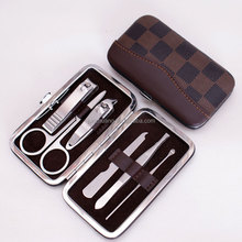 6PCS Makeup Manicure Tool for Woman with Pu Box