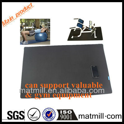 Outdoor folding high class yoga fitness free gym mats with printed free logo for gym center