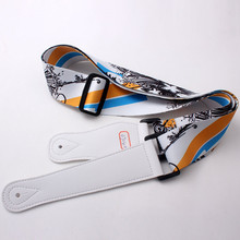 Guangzhou manufacturer direct sale high quality heat transfer guitar strap leather