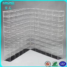 Custom retail store clear fantastic lucite display case for scale model car acrylic display case