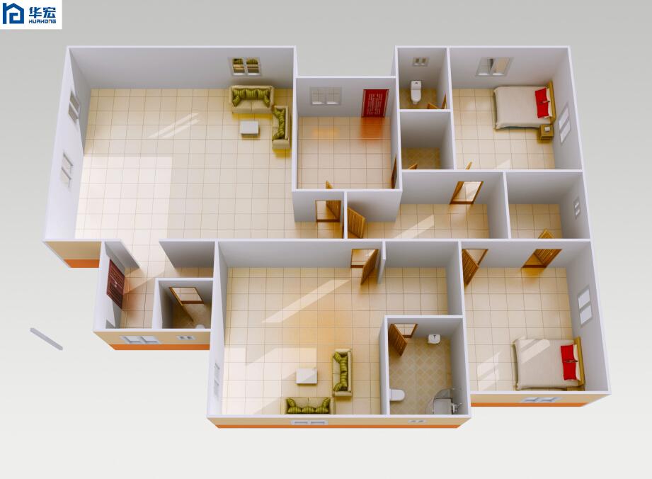 Modern foam cement 4 bedroom prefab prefabricated villa for Styrofoam house cost