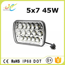 5x7 high/low beam 45W 7inch auto led driving headlight