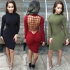 2016 Sexy Club Party Vestidos Robe Women Autumn Long Sleeve Black bandage Dress Plus Size