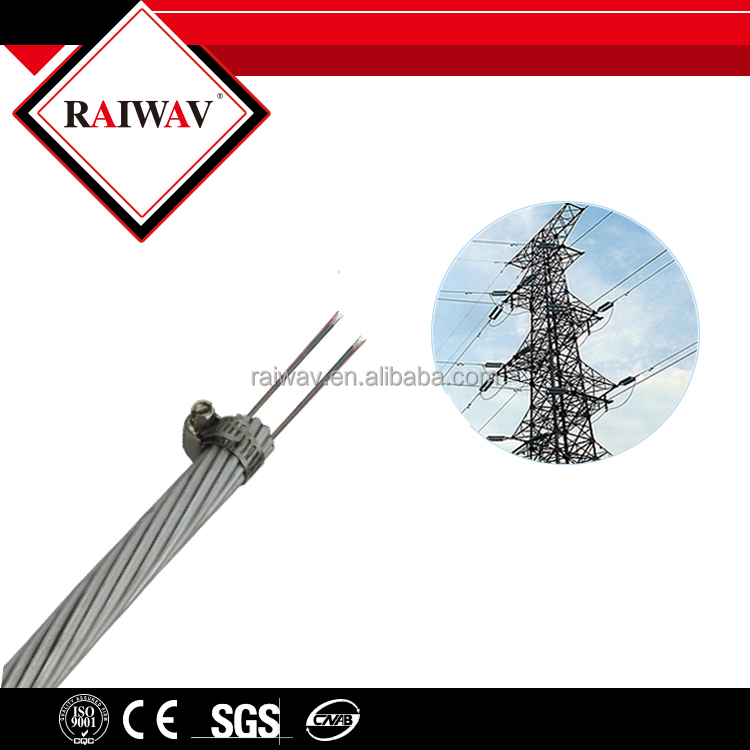 Composite Anti Thunder Ground Wire Optic Fiber Cable OPGW Manufacturer
