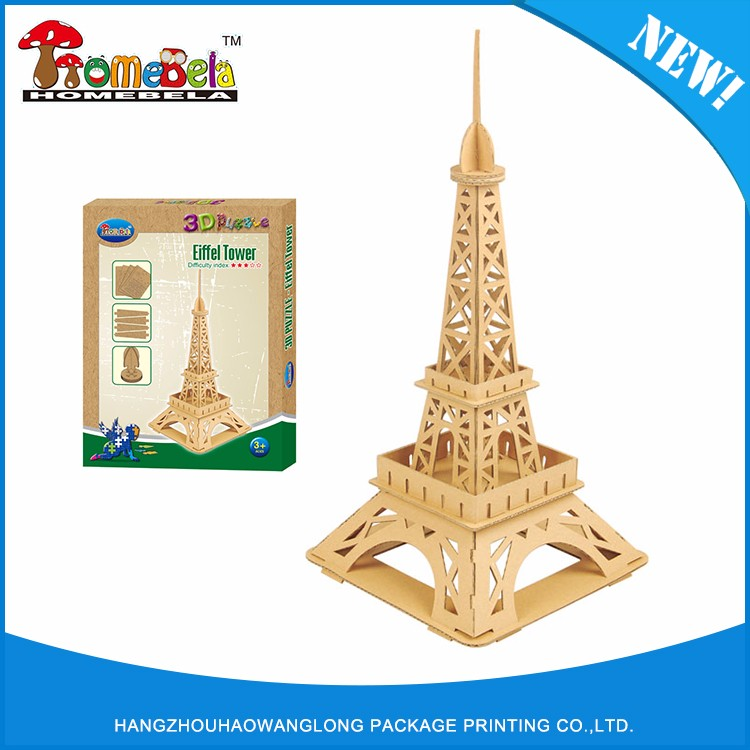 Professional manufacture cheap 3d puzzle jigsaw