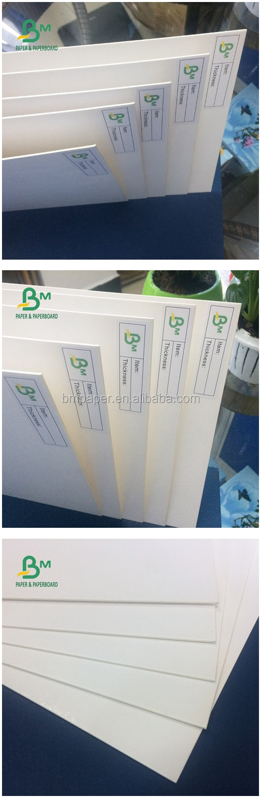 250gsm Paper Thickness SBS Paperboard / Ivory Board for Business Card