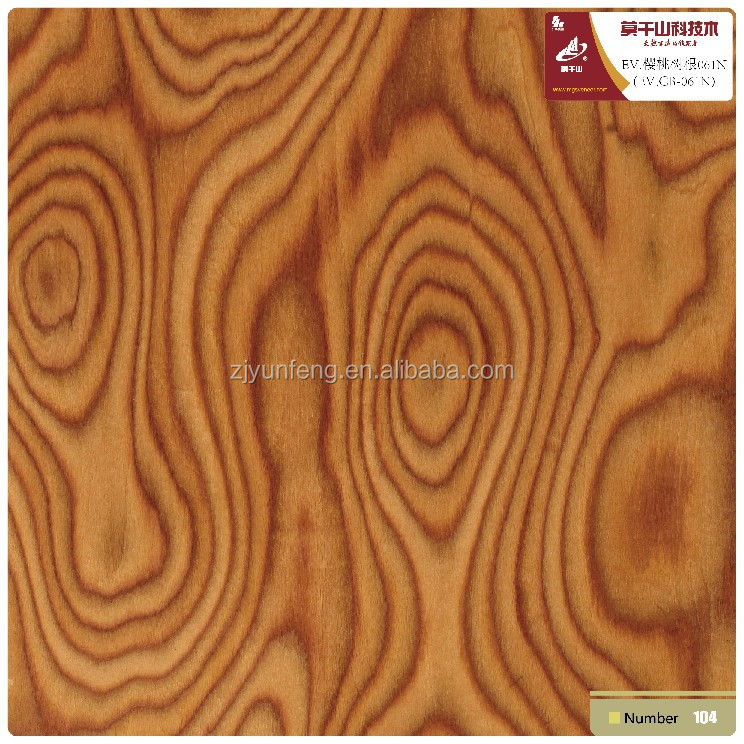 MGS reconstituted engineered veneer Cherry burl E1 glue with FSC certification