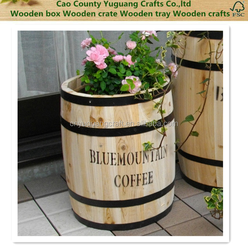 2016 wooden design flower pot no need fumigation - Wooden flower pot designs ...