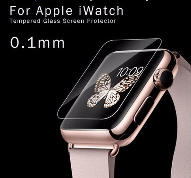 2016 factory directly 2.5D 9H Watch screen protector with size 38mm&42mm