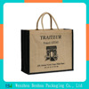 Promotional Factory Made Natural Color Burlap Jute Tote Bag