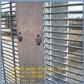 "China factory hot sales PVC coated hot dip galvanized metal 8 guage wire 0.5""x3"" mesh count 358 grill fence panels"
