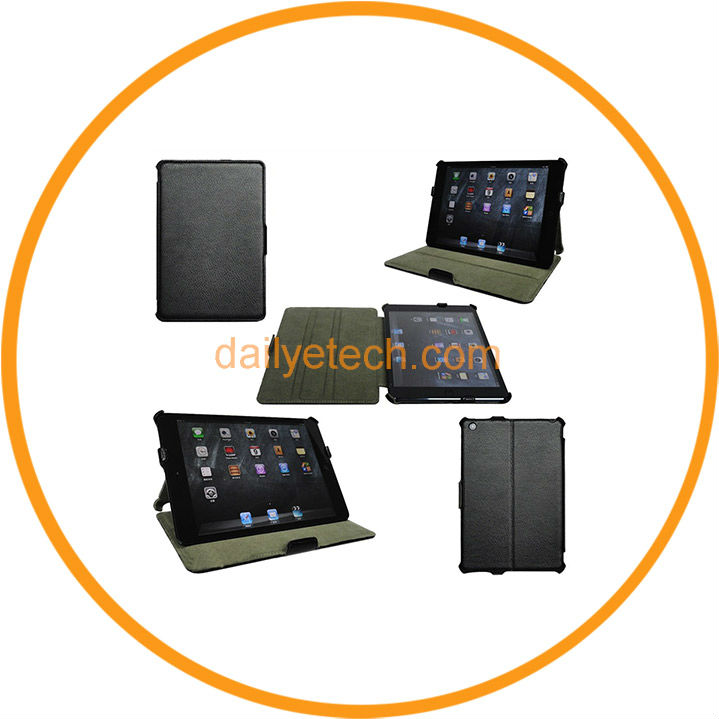 Cheap Slim Magnetic Leather Smart Cover Case for iPad Mini Black from Dailyetech