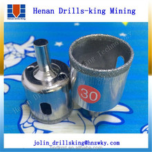 Drilling Holes In Glass: Electroplated Diamond Core Drill Bit