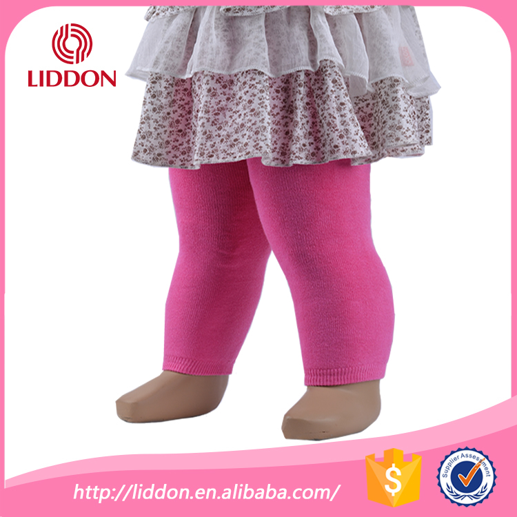 baby toddler wearing terry loop leggings, baby cotton leggings pants