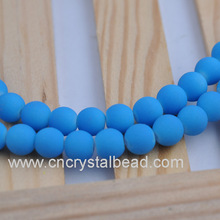 2014 Wholesale blue rubber beads strand