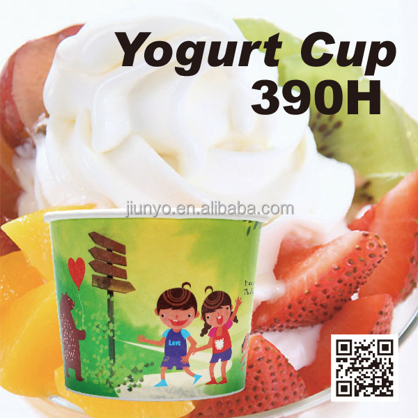 disposable soup and frozen yogurt cup