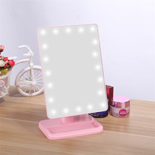 Desk Style Portable LED Desk Makeup Mirror With Light Adjustable Bright
