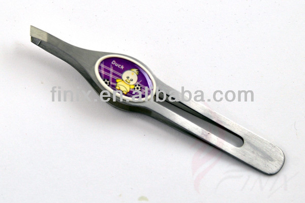 "3.75"" High Quality Slanted Tip Eyebrow Tweezers"
